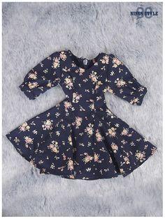 Nine9 Style - SD13 Girl Flower Dress (Navy)