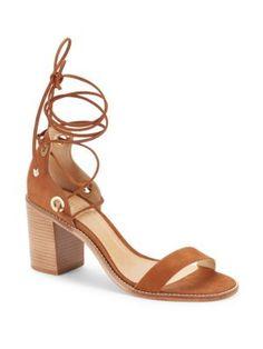 SCHUTZ Zion Lace-Up Leather Sandals. #schutz #shoes #flats