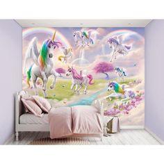 unicorn mural magical walltastic multi depot bedroom rooms homedepot murals