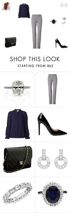 """Sem título #1463"" by crepusculo55 ❤ liked on Polyvore featuring 3.1 Phillip Lim, Prada, Chanel, Swarovski and Blue Nile"