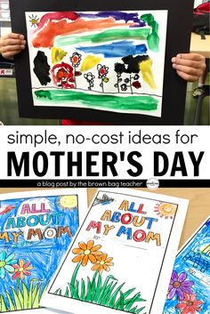 Simple and FREE ideas for celebrating Mother's Day. I love the Mother's Day Questionnaire and card!