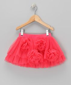 Take a look at this Coral Rosette Tutu - Toddler & Girls by Designer Kidz on #zulily today!
