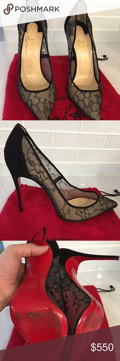 41cdac9fb52 Christian Louboutin Sheer Lace Pigalles 100cm This amazing sheer lace  pointy-toe Pigalle pump is
