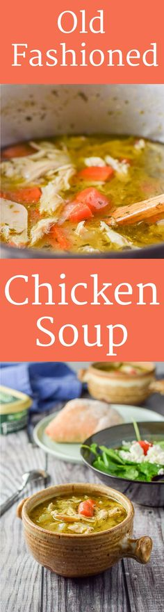 Good old fashioned #chicken #soup is not only #delicious but comforting as well! Just what you need even if you aren't feeling under the weather! https://ddel.co/gofchixsp via @dishesdelish