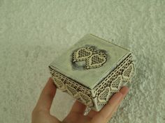 Ring Bearer Box Miss VINTAGE WEDDING Rustic by ZTenEva on Etsy, $27.00