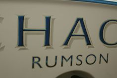 #TRANSOM: Chaos, Rumson #Boat #Transom #BoatTransom  TRANSOM #TECHNIQUE: #CustomBoatLettering   #BOAT #BUILDER #BoatBuilder: #ScarboroughBoatworks, #Wanchese, #NorthCarolina