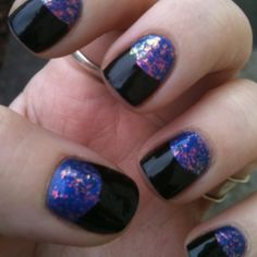 Half moon manicure.
