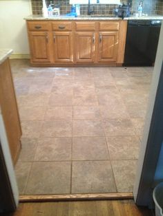 Tile floor we installed