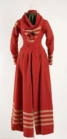 Coat1886 Culture: American Medium: wool, silk, cotton, brass