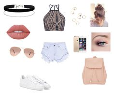 """Untitled #86"" by reagan-critchfield on Polyvore featuring Triya, One Teaspoon, adidas, Miss Selfridge, Lime Crime, New Look and Ray-Ban"