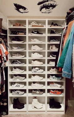 wohnung VSCO - leilasage - Collection Using The Sun To Cut Pool Heating Costs One of the biggest ene Shoe Room, Shoe Wall, Closet Bedroom, Closet Shoe Storage, Closet Organization, Shoe Racks, Shoe Rack Heels, Shoe Shelves, Dream Closets
