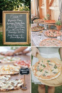 Pizza Buffet   - a delicious new wedding foodie trend   See more great wedding food ideas on www.onefabday.com