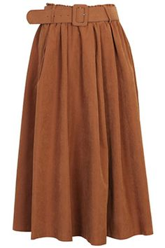 ROMWE | Pleated Belted High Waist Skirt, The Latest Street Fashion