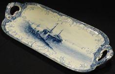 Jugendstil Tablett Platte Holland Motiv Malerei Villeroy & Boch Mettlach…