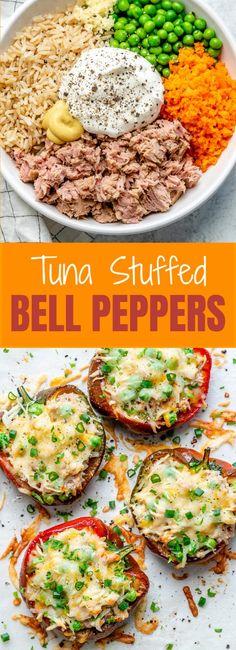 Vegan Recipes Easy, Clean Recipes, Veggie Recipes, Vegetarian Recipes, Tuna Stuffed Peppers, Healthy Stuffed Bell Peppers, Healthy Sandwiches, Sandwich Recipes, Clean Eating