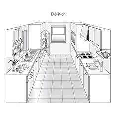 Plan de cuisine en parallèle
