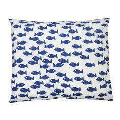 Tyynyliina Fish / wave, 50x60 cm, - Kodinsisustusta - kodintekstiilejä - Hemtex