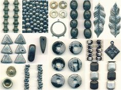 black and white semi-precious beads and pendants! all on #sale through Thursday!