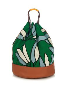 INSP; TAN TRIMS WITH PRINT  Candle Stick-print canvas backpack | Marni | MATCHESFASHION.COM US