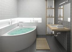 Small Bathroom Idea Corner Bathtub Redesigning The