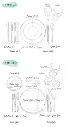 How To Set a Table: Illustrated Guide to Casual & Formal Entertaining