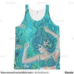Maya mermaid and goldfish tank top by Renee All-Over Print Tank Top