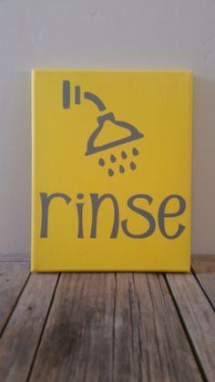 Rinse Bathroom Canvas - pinned by pin4etsy.com https://www.etsy.com/shop/aspoonfulofawesome?ref=hdr_shop_menu