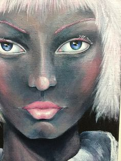 Original Mixed Media Fantasy Girl Clown Painting Sujati Art Studio by VividSpirit on Etsy