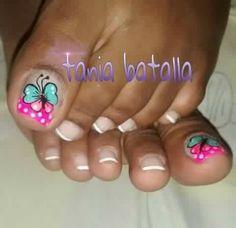 Cute Toe Nails, Cute Toes, Pedicure Nails, Manicure, Butterfly Makeup, Nail Effects, Toe Nail Designs, Stylish Nails, Nail Art