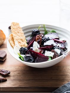 Blackberry Beet Salad with Blackberry Balsamic Dressing