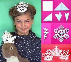 Make festive christmas crowns and paper snowflakes