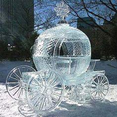 Awesome Snow and Ice Sculptures. A collection of incredible Snow and Ice Sculptures❤️ Snow And Ice, Fire And Ice, Snow Sculptures, Sculpture Art, Metal Sculptures, Abstract Sculpture, Bronze Sculpture, Cinderella Carriage, Cinderella Coach