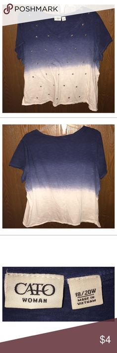 Women's Top Like new, wore several times but does not have any flaws at all. Cato Tops Blouses