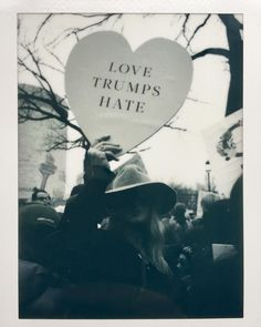 love trumps hate | women's march signs designed by kaela rawson.