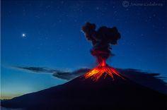 La lava del Tungurahua, Venus y las estrellas