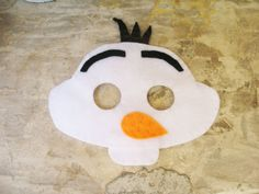 Frozen Olaf play mask handmade from felt with by PennyPopps, €8.00