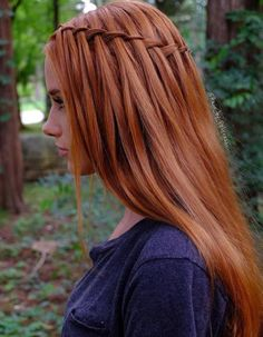 Waterfall Braid ★ We bring you easy hairstyles for l. <img> Waterfall Braid ★ We bring you easy hairstyles for long hair to make you look chic. Dreaming to change your style but do not know how to do it? Braided Hairstyles Tutorials, Easy Hairstyles For Long Hair, Loose Hairstyles, Wedding Hairstyles, Simple Homecoming Hairstyles, Asian Hairstyles, Trendy Hairstyles, Hairstyle Ideas, Braid Styles