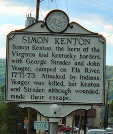 Simon Kenton Historical Sites | Simon Kenton - West Virginia Historical Markers on Waymarking.com