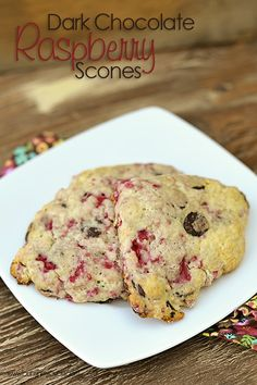 dark chocolate raspberry scones