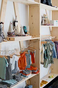 Visual Merchandising - retail, natural look shelving