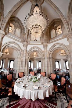 The restaurant inside Fisherman's Bastion #Budapest #Europe #Hungary