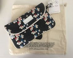 18.00$  Buy now - http://virei.justgood.pw/vig/item.php?t=k0dawp658532 - Apple & Bee Night Bloom Envelope Clutch Brand New with Tags Includes Dust Bag 18.00$
