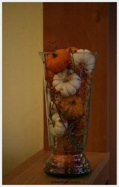 Wedding Ideas, Fall Wedding Centerpiece Ideas Pictures: fall wedding centerpiece ideas. this would be cute, but put the pumpkins in an old lantern