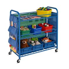 Honey-Can-Do All Purpose Rolling Activity Cart, Blue, x Rolling Craft Cart, Rolling Storage Cart, Drawer Cart, Craft Room Storage, Easy Storage, Storage Ideas, Creative Storage, Craft Organization, Learning Colors
