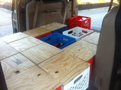 old gold pony — HOW TO CONVERT A MINIVAN TO A CAMPER We converted...