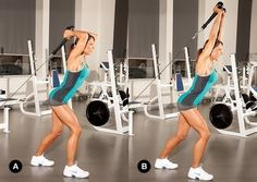 Bodybuilding & Fitness ~ beat the arm jiggle! Bodybuilding & Fitness ~ beat the arm jiggle! Bodybuilding Training, Bodybuilding Workouts, Cable Machine Workout, Cable Workout, Biceps And Triceps, Triceps Workout, Fat Workout, Workout Guide, Gym Workouts