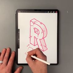 Ipad Pro Discover Letter Tutorial Click the link to view the min-tutorial Digital Painting Tutorials, Digital Art Tutorial, Digital Paintings, Ipad Art, Hand Lettering Tutorial, Typography Tutorial, Drawing Tablet, 3d Letters, Graphic Design Tutorials