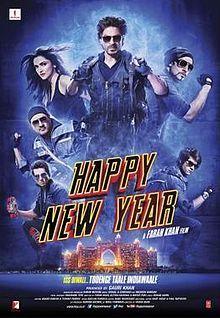 Happy New Year Poster (2014) w/ Shah Rukh Khan, Deepika Padukone, Abhishek Bachchan, Boman Irani, Jackie Schroff