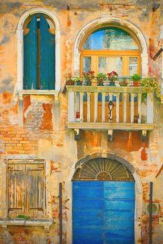 Italy photography - Venetian Fairy Tale - Venice - door architecture gold blue teal - Fine art travel photography - 8x12 -or- 8x10 on Etsy, $30.00 #ItalyPhotography