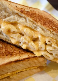 macaroni grilled cheese sandwich -- @Brookney Grant Watters UM YEAH?